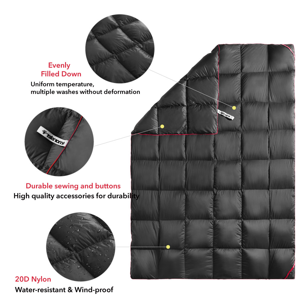 OEM factory waterproof portable down blanket