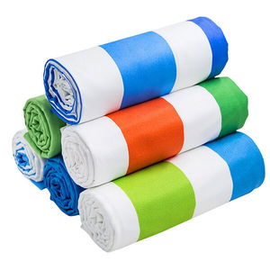 MICROFIBER COLOURFUL BEACH TOWEL WITH 100% COTTON BAG OEM FACTORY